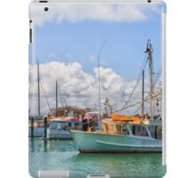 Moored Boats in a beautiful harbour iPad Case/Skin