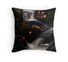 Padley Gorge Waterfall Throw Pillow
