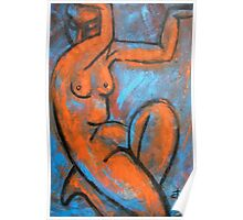 Red Caryatid - Nudes Gallery Poster
