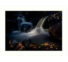 Waterfall, Padley Gorge Art Print