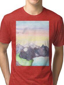 a wonderful moutain range Tri-blend T-Shirt
