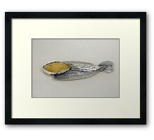 Precious metal broach Framed Print