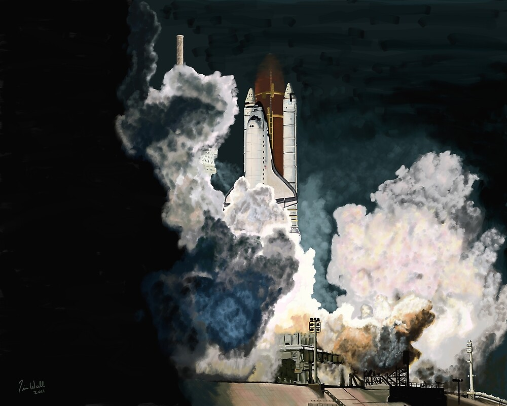 Launch in the Dark - Space Shuttle Columbia STS 93 by Timster