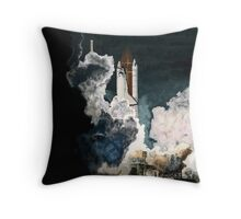 Launch in the Dark - Space Shuttle Columbia STS 93 Throw Pillow