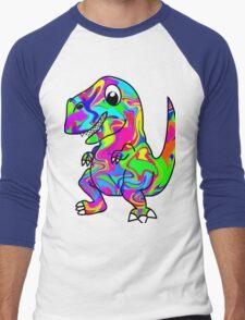 Colorful Dinosaur Men's Baseball ¾ T-Shirt
