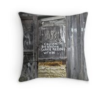 No Liability Accepted Throw Pillow