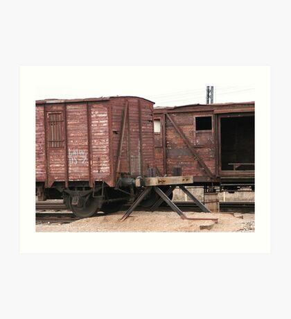 Antique liner-trains Art Print