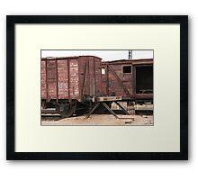Antique liner-trains Framed Print