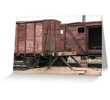 Antique liner-trains Greeting Card