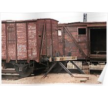 Antique liner-trains Poster