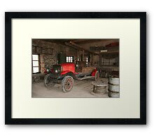 Antique fire-engine Framed Print