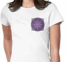 Crown Chakra Mandala 2d Womens Fitted T-Shirt
