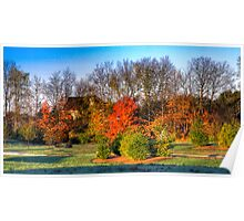 Fall Landscape in Indiana Poster