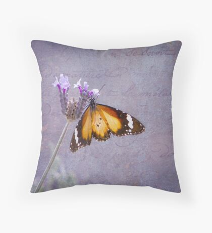 Golden Wings Throw Pillow