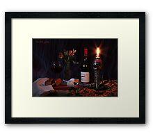 Tres Picos Bread Oil Lamp Framed Print