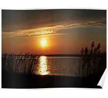 Sunset over Barnegat Bay NJ. Poster