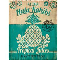 S/S 2015 - Pineapples - Hala Kahiki Juice Stand Photographic Print