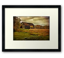 Old Barn in October Framed Print