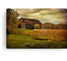 Old Barn in October Canvas Print