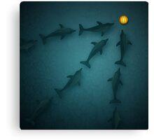 Animal art - Polo Dolphins Canvas Print