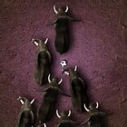 Animal Art - Football Elephants by Michael Murray