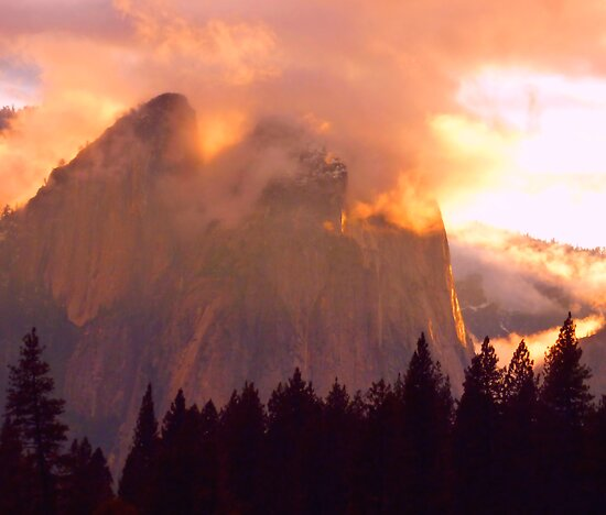 CATHEDRAL ROCKS ON FIRE by Elaine Bawden