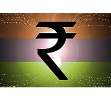 Indian Rupee Background Photographic Print