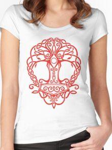 Yggdrasil - Yrminsul Women's Fitted Scoop T-Shirt