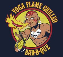 Yoga Flame Grilled BBQ Kids Tee