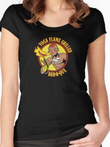 Yoga Flame Grilled BBQ Women's Fitted Scoop T-Shirt
