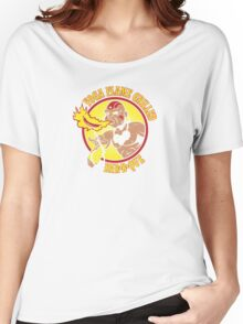 Yoga Flame Grilled BBQ Women's Relaxed Fit T-Shirt