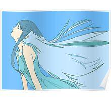 Blue Girl Poster