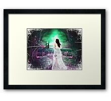 Woman in White Framed Print