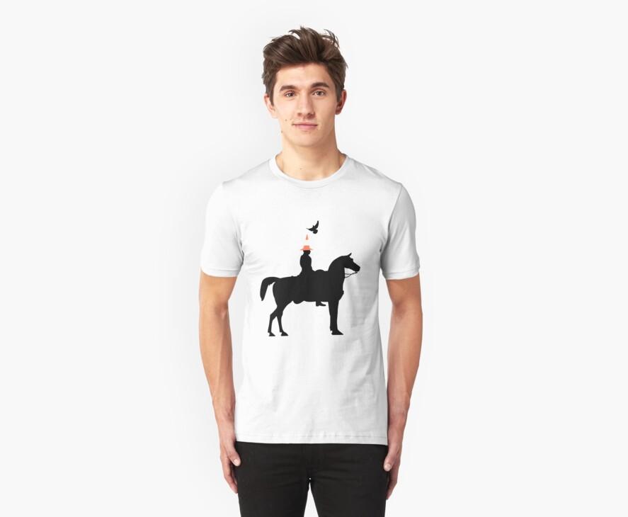 Glaswegian Duke of Wellington Statue T-Shirt by simpsonvisuals