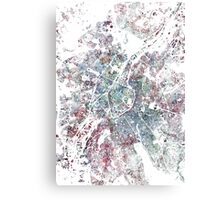 Brussels map watercolor painting Canvas Print