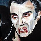 Christopher Lee as Dracula by debzandbex