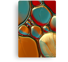 Oil & Water Abstract in Orange II Canvas Print