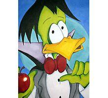 Duckula, the vegetarian vampire Photographic Print