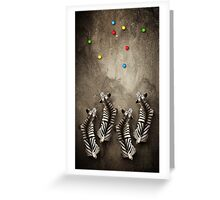 Animal Art - Zebra Petanque Greeting Card