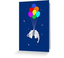 Flying Ankylosaur Greeting Card