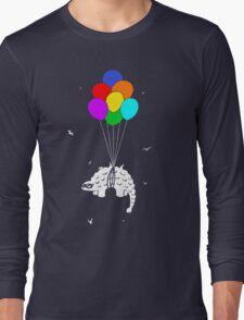 Flying Ankylosaur Long Sleeve T-Shirt