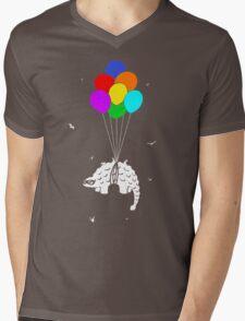Flying Ankylosaur Mens V-Neck T-Shirt