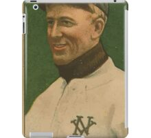 Benjamin K Edwards Collection Arlie Latham New York Giants baseball card portrait iPad Case/Skin