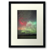 Red, green and purple Auroras Framed Print
