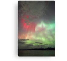 Red, green and purple Auroras Canvas Print