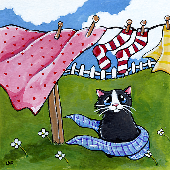 Windy Wash Day by Lisa Marie Robinson