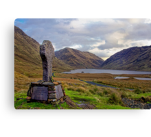 Doolough Tragedy Cross in Co.Mayo Ireland. Canvas Print