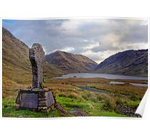 Doolough Tragedy Cross in Co.Mayo Ireland. Poster