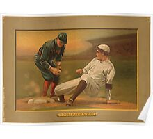 Benjamin K Edwards Collection A close play at second baseball card portrait Poster