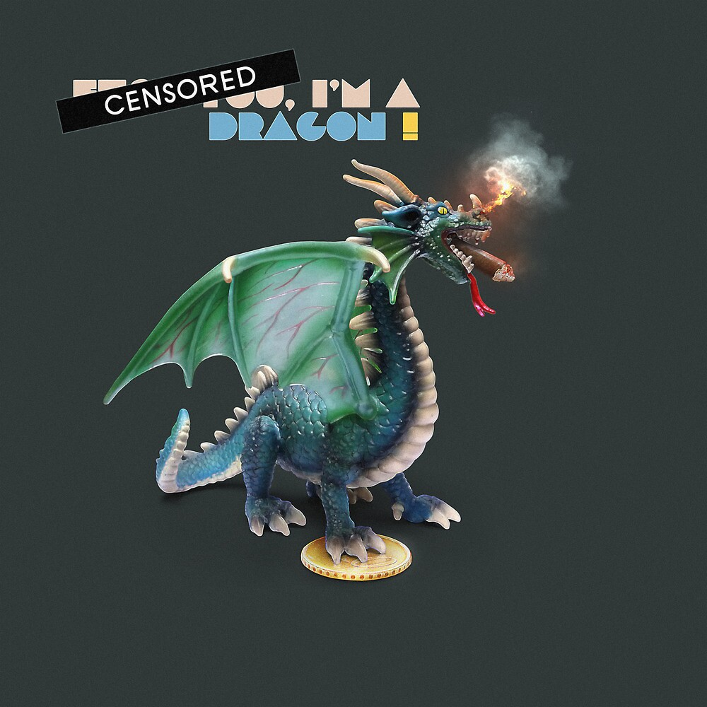 Animal Art - I'm a Dragon by Michael Murray